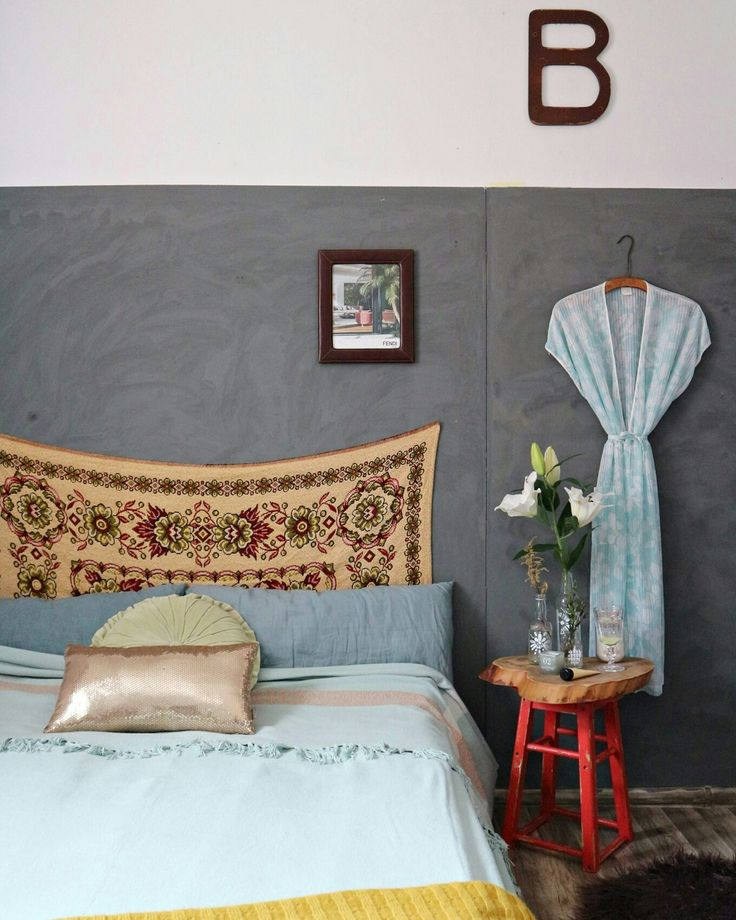 My bohemian bedroom and vintage tapestry