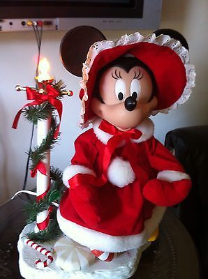 large disney animated moving christmas minnie mouse doll figure decor light mickey christmas pinterest disney christmas disney christmas decorations