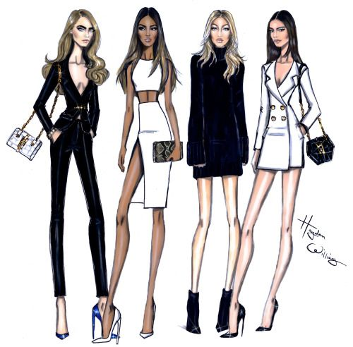 Model Behaviour: Cara, Jourdan, Gigi & Kendall by Hayden Williams| | Be Inspirational ❥|Mz. Manerz: Being well dressed is a beautiful form of confidence, happiness & politeness