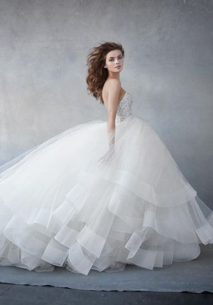 Sweetheart Princess/Ball Gown Wedding Dress  with Natural Waist in Tulle. Bridal Gown Style Number:33382524