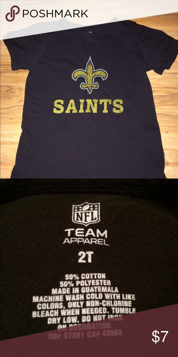 NFL Saints tee This is just too cute for game day!!! In EXCELLENT used condition! Who Dat!! NFL Shirts & Tops Tees - Short Sleeve