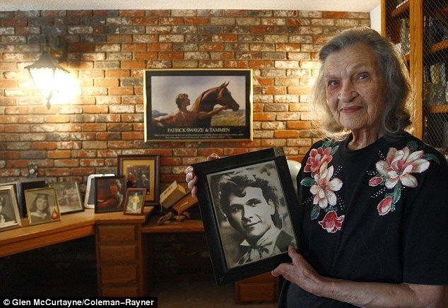 A devoted mother: Mrs. Swayze, seen here in 2011, was always proud of her son's career