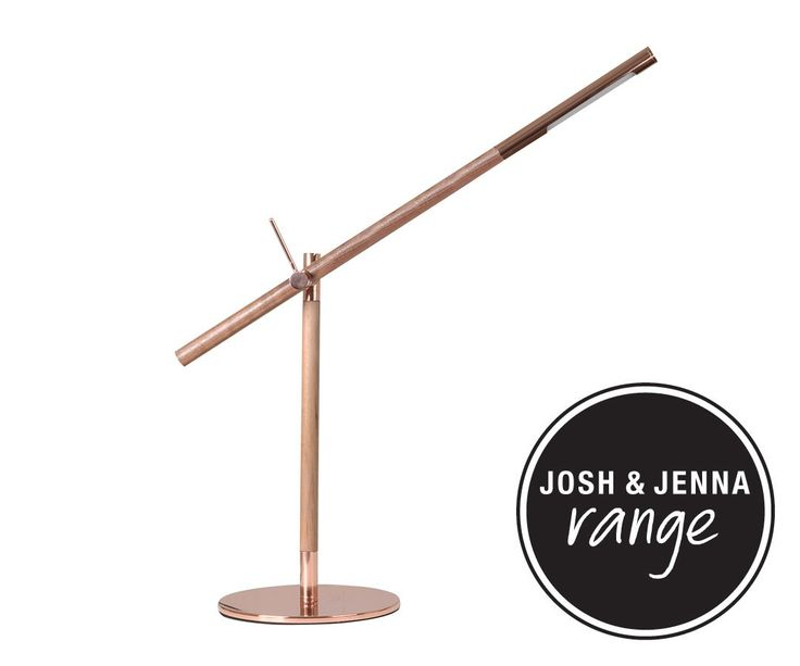 LEDlux Milano Adjustable Table Lamp in Copper/Walnut   Table Lamps   Lamps   Lighting