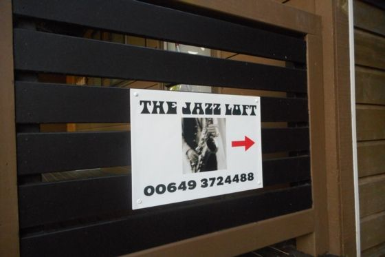 Jazz Loft sign to pathway - Onetangi apartment