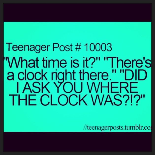 Hilarious teen quote