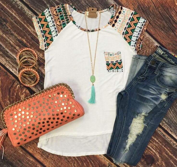 The Tribal Way Top: Peach