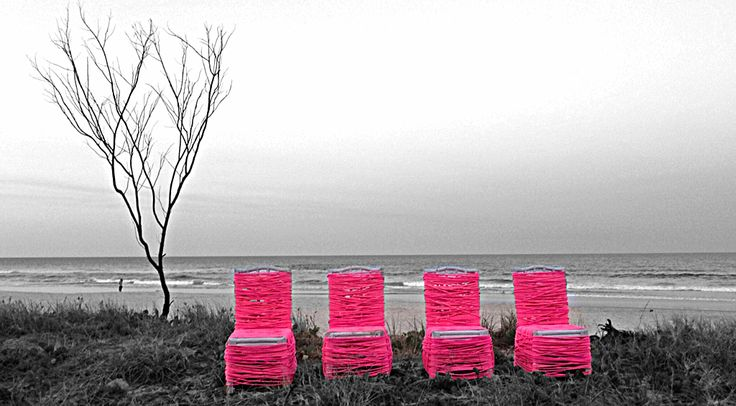 Ashleigh Cotterill's 'Death by Fluoro' site 31 #Swell2013 13-22 Sept 2013 Currumbin Beach QLD AU www.swellsculpture.com.au