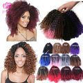 "8"" Mali Bob 3PCS Curly Weave Havana Mambo Ombre Crochet Braid Hair Extension"