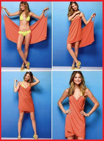 Burda beach wrap instructions! Awesome I bought this from Lane Bryant and couldn't figure out how to where it!!