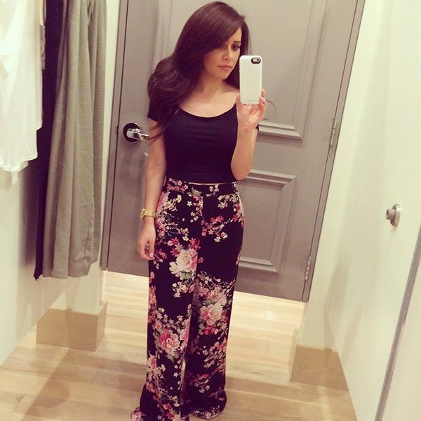 Crop top and Palazzo pants | Simply Mars | Pinterest | Tops Instagram outfits and Outfit