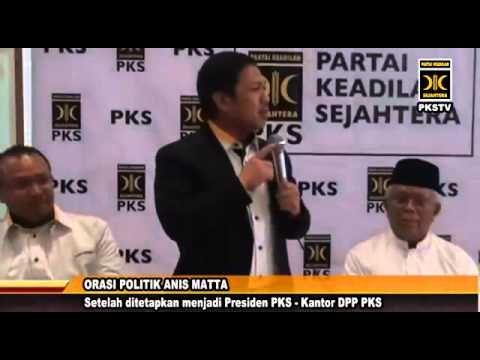 Orasi Politik Presiden PKS Anis Matta, pasca pengangkatannya sebagai Presiden Partai Keadilan Sejahtera (PKS), hadir pada acara tersebut KH. Hilmi Aminuddin beserta pimpinanlainnya.