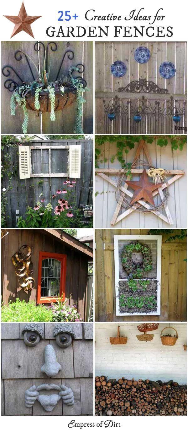 Homemade garden art ideas - 25 Creative Ideas For Garden Fences