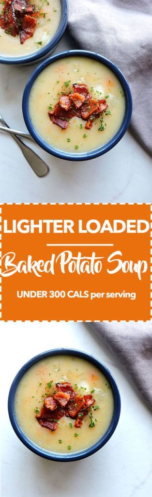 Lighter Loaded Baked Potato Soup