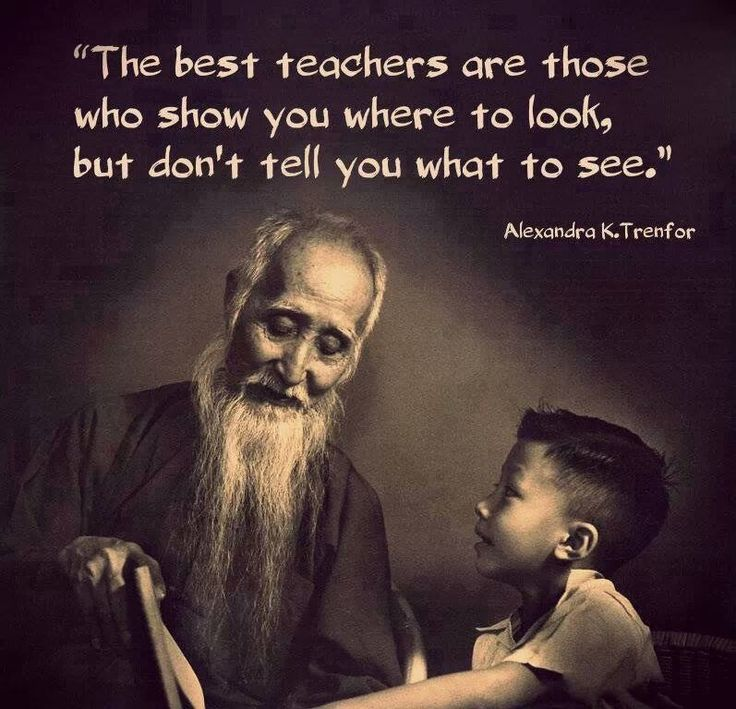 "The best teachers are those who show you where to look, but don't tell you what to see."" ― Alexandra K.Trenfor tags: learn, learning, students, teacher"