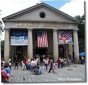 Quincy Market (1825), Boston's most famous Greek Revival ...