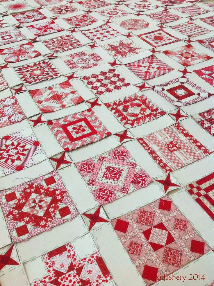 Nearly Insane Quilt in progress , February 2014 at Fabadashery