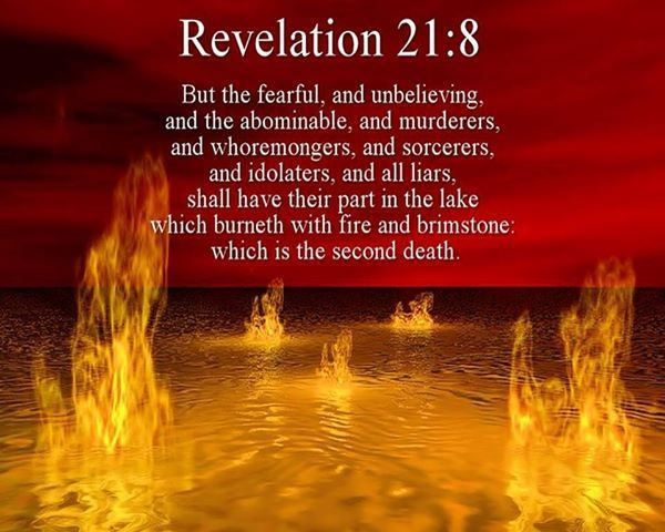 Revelation 21:8-27 (KJV) But the fearful, and unbelieving, and the abominable, and murderers, and whoremongers, and sorcerers, ....,,,ecard
