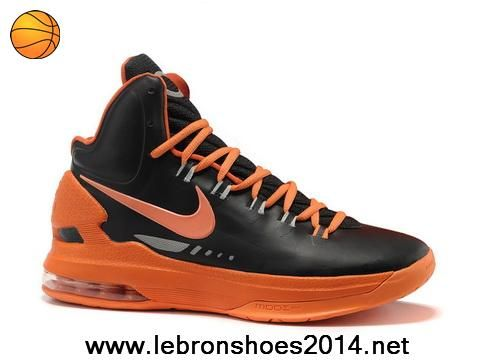 Latest Listing Nike Zoom KD V 5 Black Orange Basketball Shoes Sports Shoes  Shop