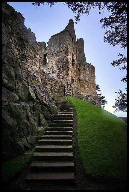 Dirleton Castle Steps,Scotland