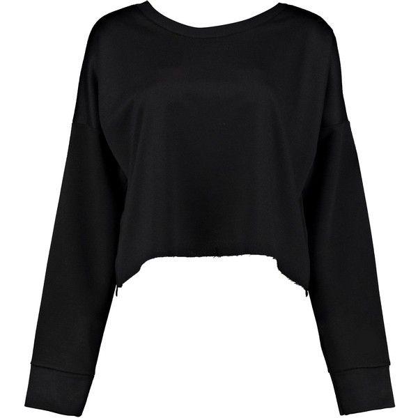 Boohoo Tall Macia Raw Hem Oversized Boxy Crop Sweat | Boohoo ($16) ❤ liked on Polyvore featuring tops, hoodies, sweatshirts, cut-out crop tops, oversized crop top, crop top, boxy sweatshirt and cropped sweatshirt