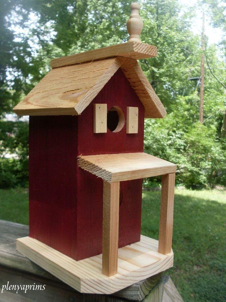 Folk art primitives bird house 2 nests