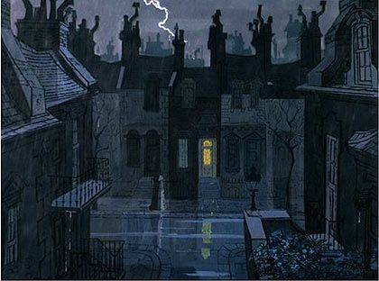 Walt Peregoy background - 101 Dalmatians, Walt Disney