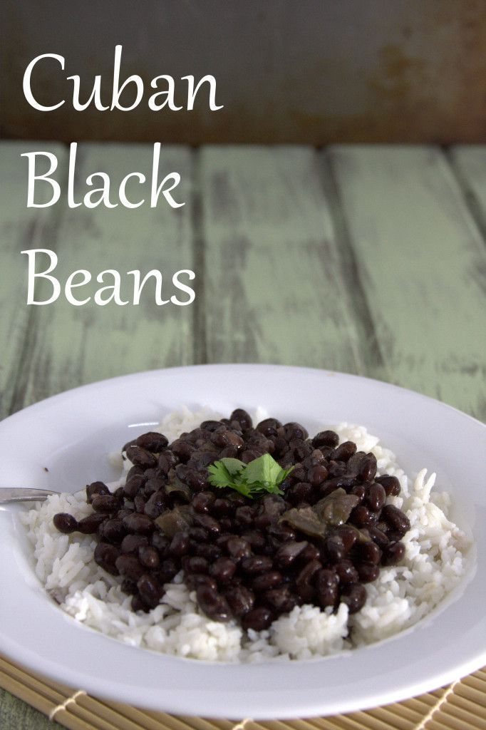 Cuban Black Beans Recipe - this is so good I need to make a double recipe for just for the 2 of us (we like leftovers)