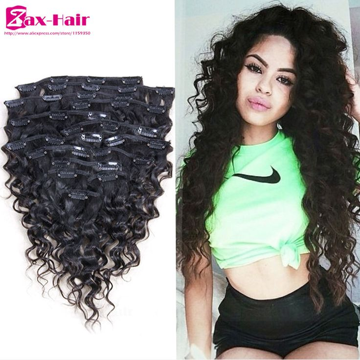 Clip In Human Hair Extensions Curly African American Clip In Hair Extensions Virgin Brazilian Human Clip in Hair For Black Women