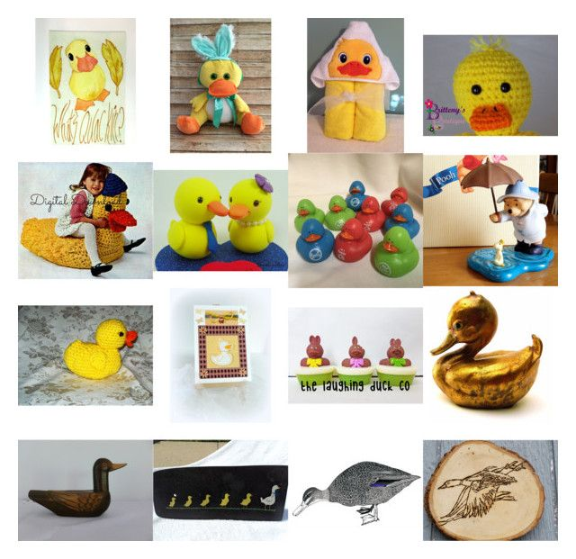 What's Quackin'? by kateduvall on Polyvore featuring interior, interiors, interior design, home, home decor, interior decorating, Rubber Duck, Disney, bathroom and vintage