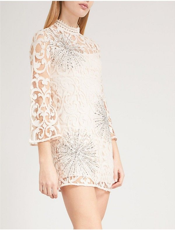 f7d571c31 FREE PEOPLE - North Star embellished lace mini dress
