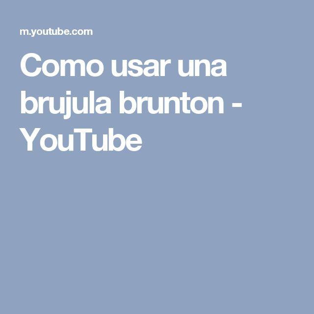 Como usar una brujula brunton - YouTube