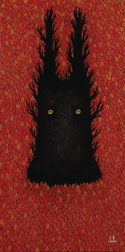 autumnal animal god - andy kehoe: Artists Andy, Animal God, Animals, Autumn Animal, Andy Keho, Art Andy, Illustrations, Ghoul Of The Forests Deep Jpg, Keho Autumn