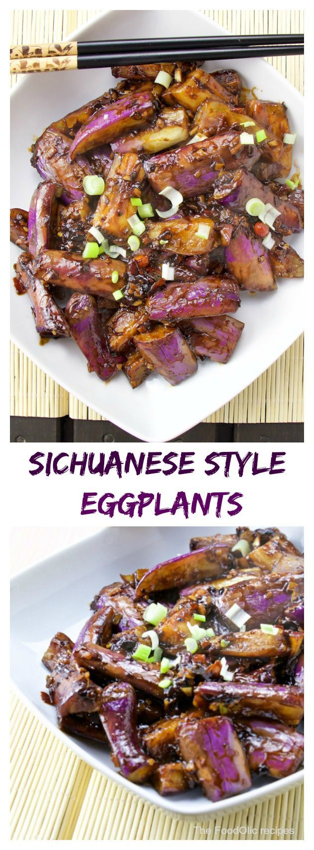 Szechuan eggplants is a great chinese dish, slightly spicy Sichuanese flavoured recipe. The long asian eggplants have a firmer texture and bolder flavour in comparison with the western world &#8220… #chinesevegetarianrecipes