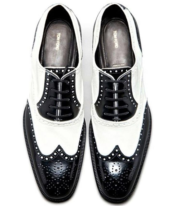 Tom Ford - Shoes black & white wingtips oxfords brogues Frm David  Bundesen's bd: My Style