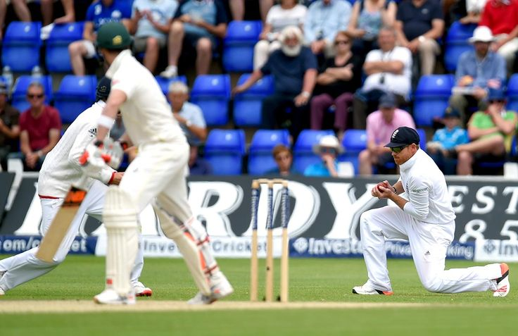 The world's best Test batsman, Steve Smith, equalled his first innings tally only to be unnerved by a ball from Broad that jagged violently back into him and thus tricked him into hanging out his bat limply at the next, which held its line and landed in the lap of second slip.