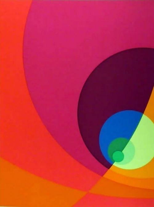 Herbert Aach: Split Infinity 1980 Serigraph,: Colors Theory, Abstract, 1980 Serigraph, Split Infinity, Art, Colors Relationships, Herbert Aach, Quilts Ideas, Infinity 1980