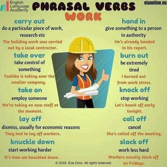 Phrasal Verbs Related To Work  #English