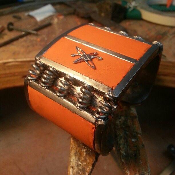 Atomic cuff bracelet