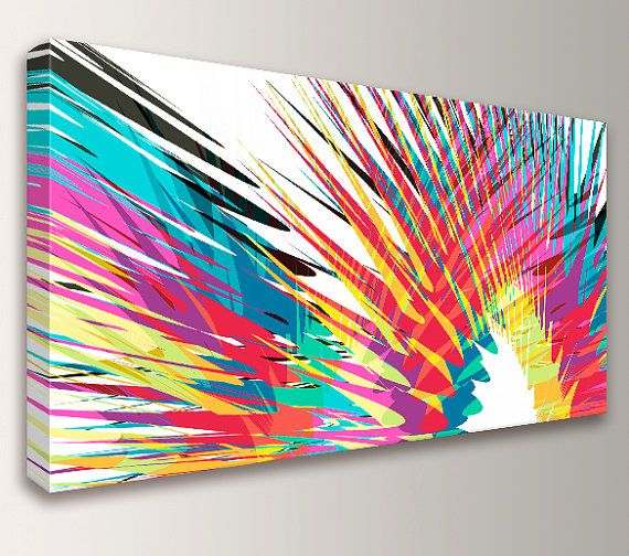 Modern Abstract Art Colorful Canvas Print By The Modern Art Shop On Etsy,  Starting At