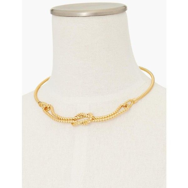 Talbots Women's Rope Knot Collar Necklace ($60) ❤ liked on Polyvore featuring jewelry, necklaces, gold, antique jewelry, nautical knot necklace, antique necklaces, polish jewelry and talbots