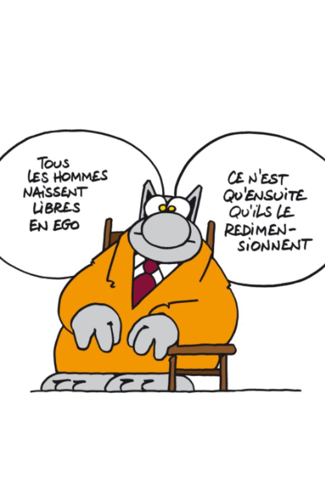 Narcisse est un nom plus répandu qu'on le pense... / Le Chat. / By Geluck.