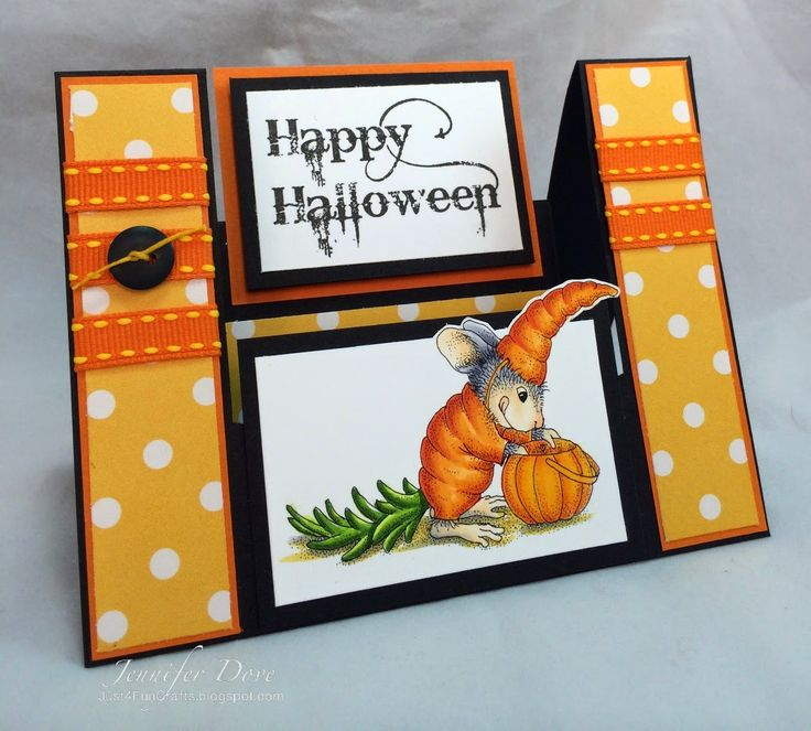 #cre8time for Just4FunCrafts and DoveArt Studios: Carrot Top! This cutie from House-Mouse Desigs and Stampendous is perfect for Fall.
