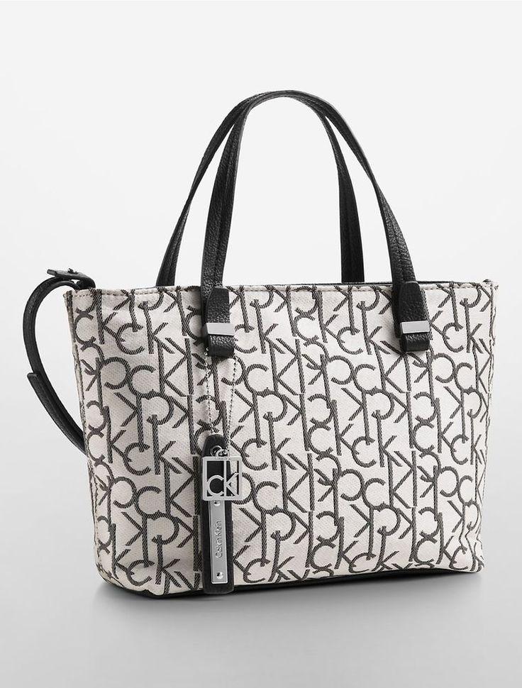 New Calvin Klein hailey lurex studio tote crossbody bag ...