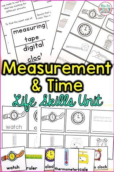 Time and Measurement Life Expertise Unit (Particular Schooling & Autism Useful resource)