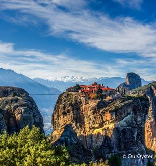 Meteora, Trikala, Greece - It blows my mind how they even built...