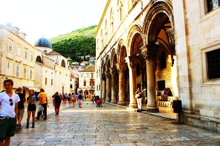 Golden evening light at the old town Dubrovnik.