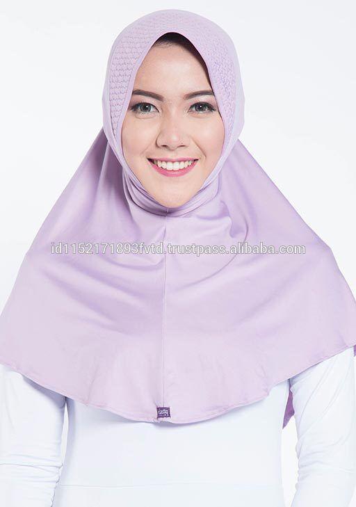 Simple Hijab Instant Hijab Elzatta Zaria M Almeria Mauve Mist Hijab For The world