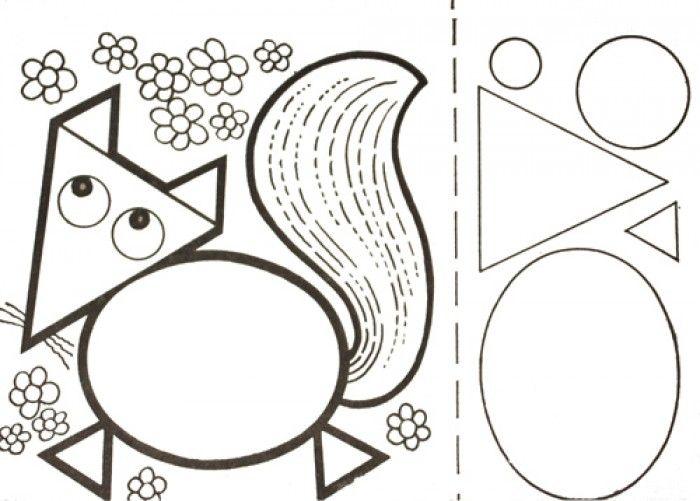 Картинка из геометрических фигур животные