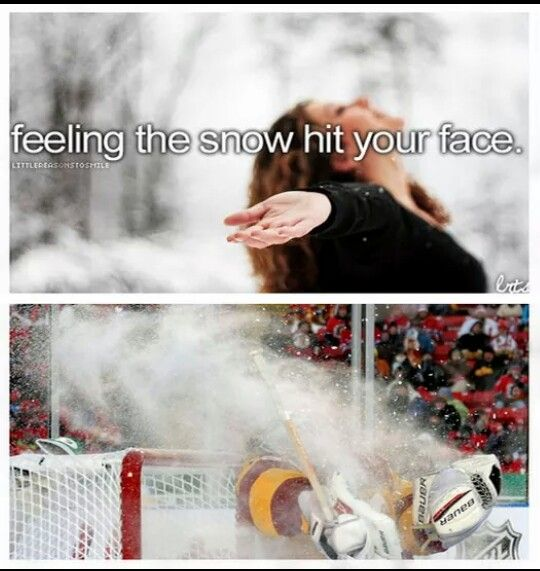 all canadians can relate even if they dont play hockey they are present for the games and the local players are like celebrities and they give out autographs and yeah we all get snow in our face.