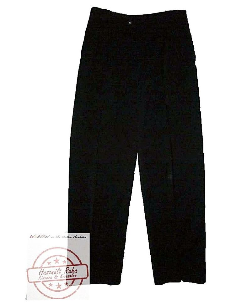 P&P fekete, vastagabb, férfi szövetnadrág (M/L)